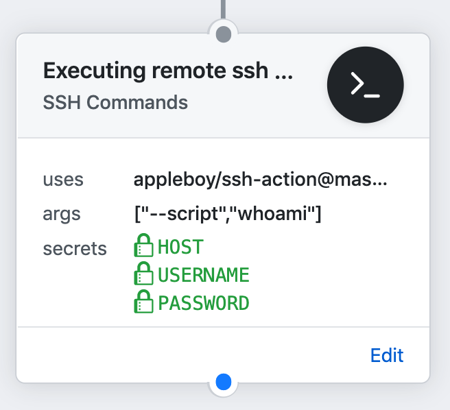 appleboy/ssh-actions